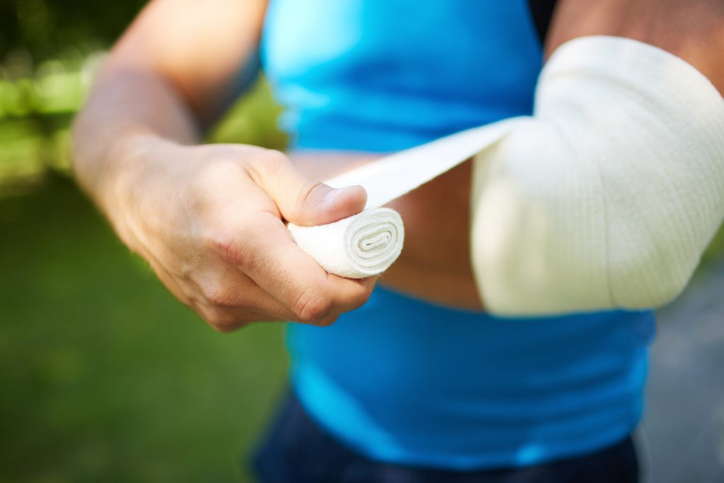 Elbow injury throwing athletes